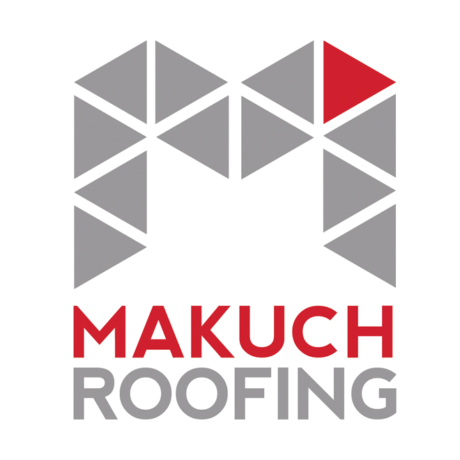 Makuch Roofing logo design by Duotone