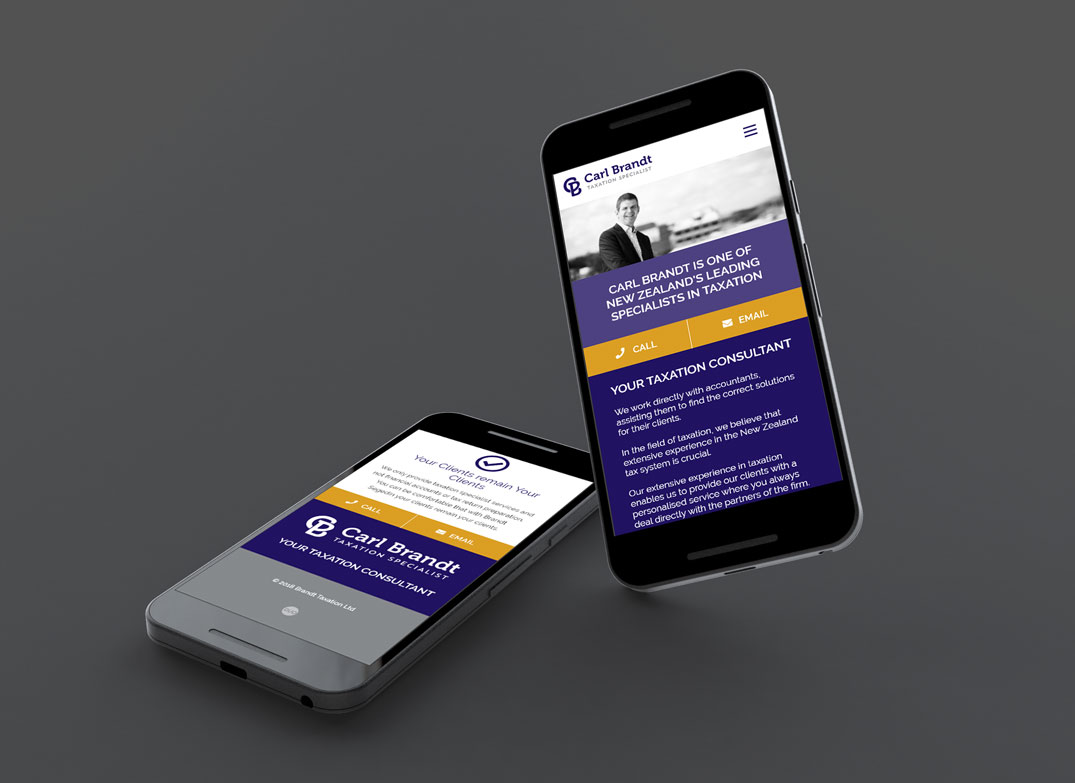 Carl Brandt Taxation Mobile Website