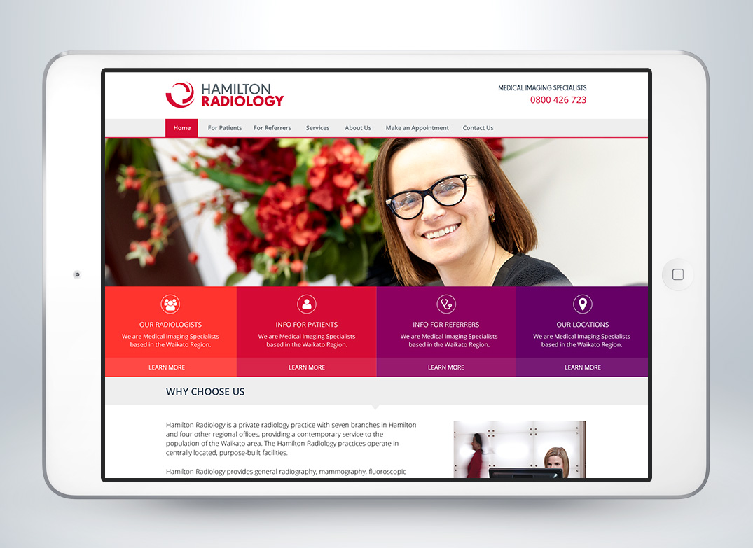 Hamilton Radiology Website Design