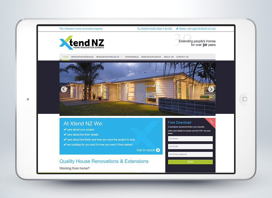 Xtend NZ Website Design