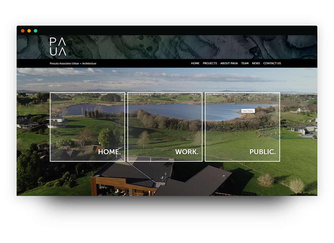 Paua Architects Website